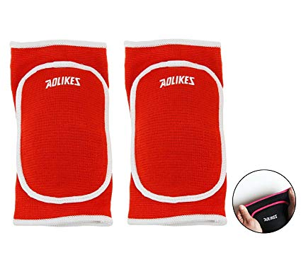 BYP Kids Knee Pads Anti-slip Padded Knee Sleeves Protective Brace Sponge Pad with Hole for Sports Basketball Skate Skateboarding Dancing Volleyball Football